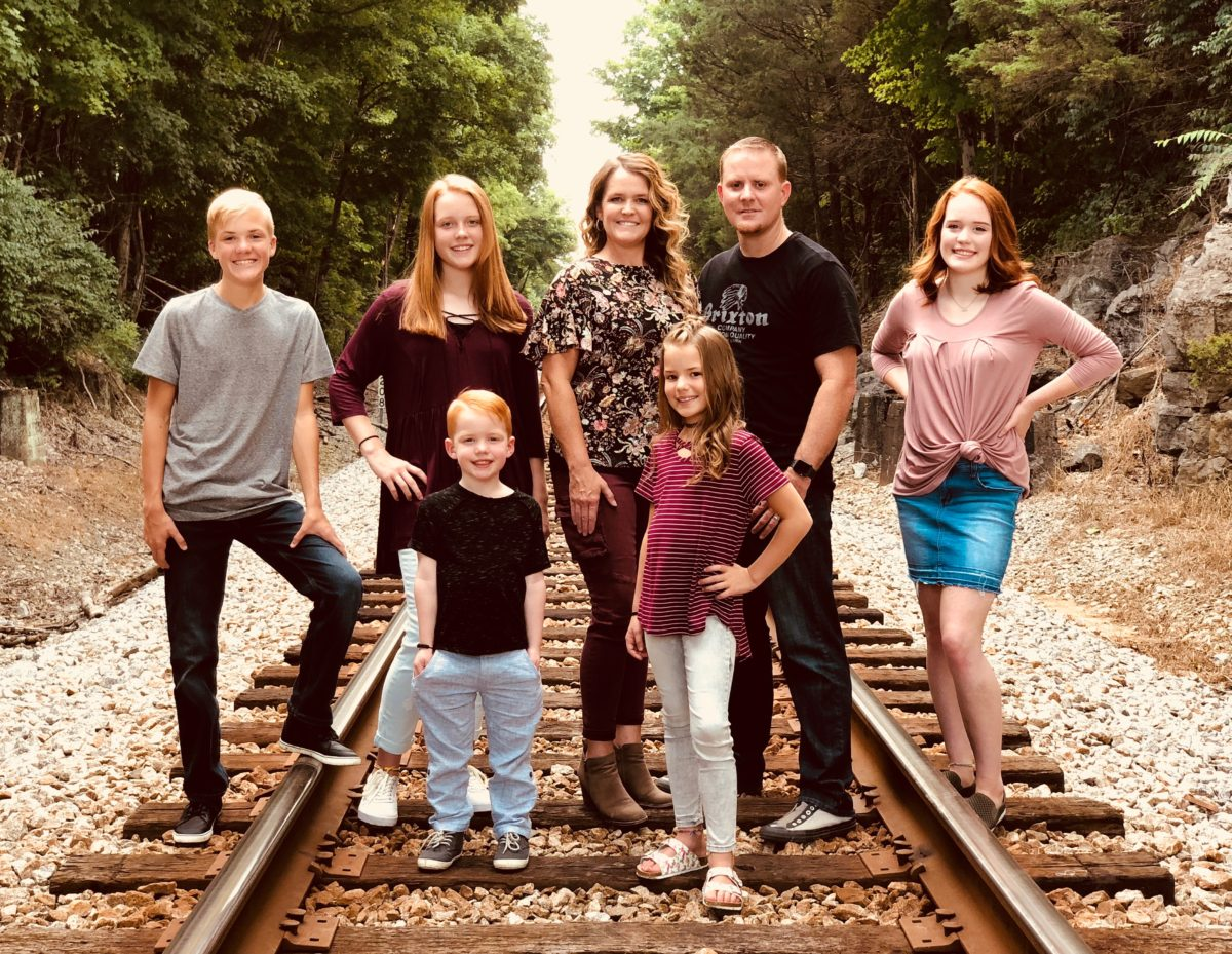 Dr. Jared Anway and his family