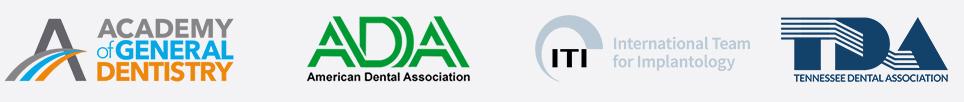 Academy of General Dentistry - American Dental Association - International Team for Implantology - Tennessee Dental Association